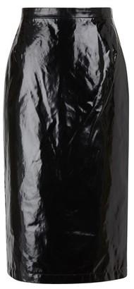 N°21 Waxed-effect midi skirt