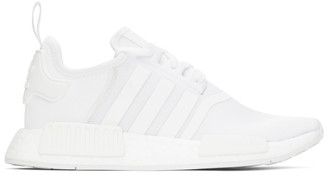 adidas White NMD-R1 Sneakers