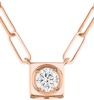 Dinh Van Le Cube 18K Rose Gold & Diamond Large Pendant Necklace