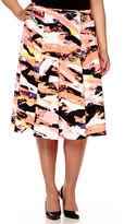 BELLE + SKY Print Skirt - Plus