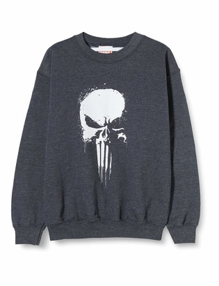 Marvel Girl's Knights Paintspray Skull Hoodie
