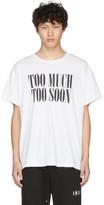 Amiri White Too Much Too Soon T-Shirt