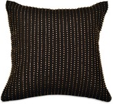 Donna Karan Reflection Ebony Beaded Decorative Pillow, 12 x 12