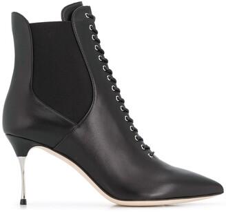 Sergio Rossi Godiva Steel 75mm boots