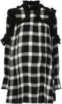 I'M Isola Marras ruffled detail checked dress