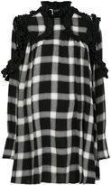 I'M Isola Marras ruffled detail checked dress