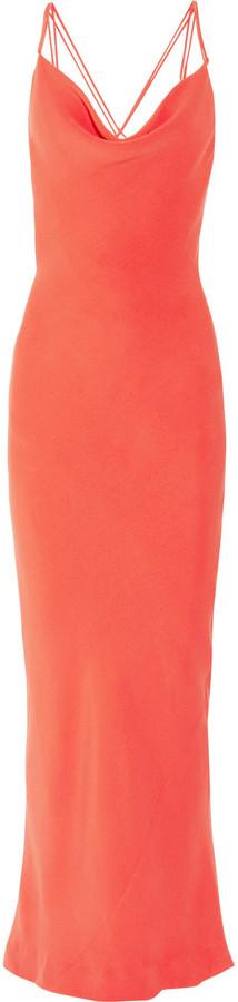 Joseph Basel bias-cut silk-crepe gown