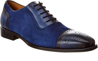 Mezlan Baroque Suede & Leather Oxford