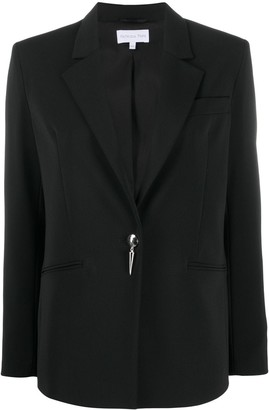 Patrizia Pepe Spike-Button Single Breasted Blazer