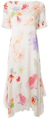 Peter Pilotto Floral Print Handkerchief Dress