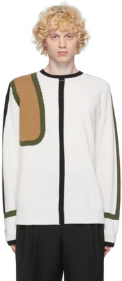 Loewe Off-White Wool and Cashmere Scarf Sweater