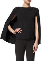 Ralph Lauren Knit Cashmere Cape-Sleeve Sweater, Black
