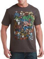 True Nation Marvel Retro Group Big & Tall Short Sleeve Graphic T-Shirt (6XL, )