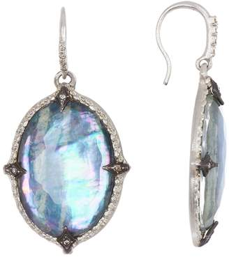 Armenta New World Large Pointed Oval Drop Earrings