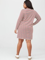 Junarose Rise Long Sleeve Striped Dress - Stripe