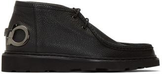 Salvatore Ferragamo Black Terry Boots