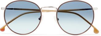 Loro Piana Weekend Turtle Round-Frame Titanium And Acetate Sunglasses