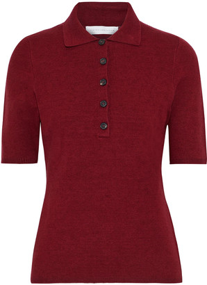 Victoria Beckham Stretch-knit Polo Shirt