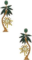 Elizabeth Cole Palm Tree Earrings