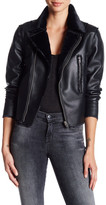 Vigoss Faux Leather & Faux Fur Jacket