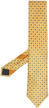 Ermenegildo Zegna Circle And Polka Dot Print Necktie