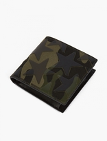 Valentino Camustar Leather And Canvas Billfold Wallet