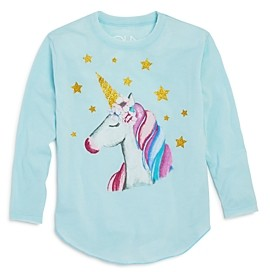 Chaser Girls' Glitter Unicorn Top - Little Kid
