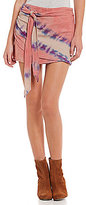 Free People When The Tide Turns Tie-Dye Wrap Skirt