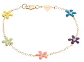 Alison Lou Diamond, enamel & yellow-gold Wildflower bracelet