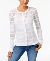 Charter Club Sheer Striped Cardigan, Created for Macy's