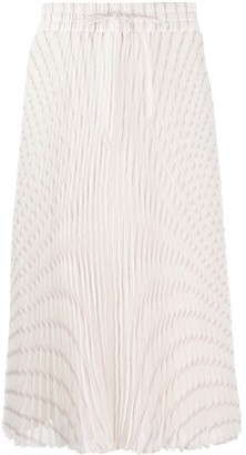 RED Valentino Metallic Threading Pleated Skirt