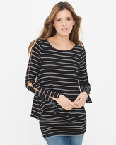 White House Black Market Double-Layer Stripe Tunic