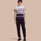 Burberry Striped Cotton T-shirt