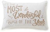 Southern Living It's the Most Wonderful Time of the Year Embroidered Breakfast Pillow