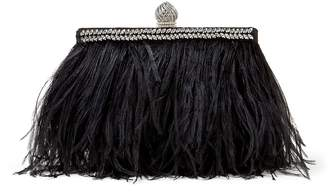 Jimmy Choo Ostrich Feather Celeste Clutch Bag