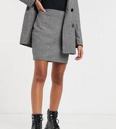 Parisian Petite tailored a line mini skirt in gray