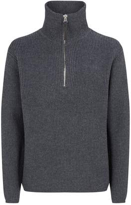 Acne Studios Knit Half-Zip Sweater
