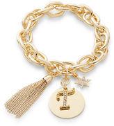 RJ Graziano T Initial Chain-Link Charm Bracelet