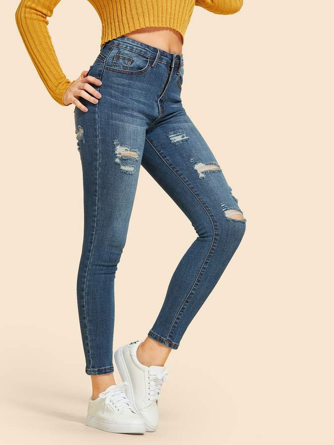 180b1f1c Navy Blue Skinny Jeans Women - ShopStyle
