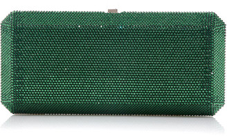 Judith Leiber Slim Rectangle Fullbead Clutch Bag