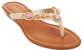 Marc Fisher Thong Sandals w/ Jewel Embellishments - Liliana
