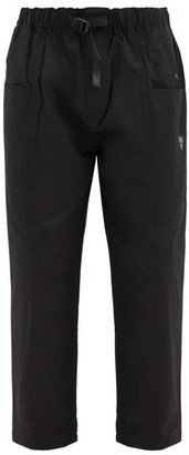 South2 West8 Elasticated-waist Cotton-blend Twill Trousers - Black