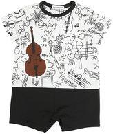 Dolce & Gabbana Instruments Printed Cotton Jersey Romper