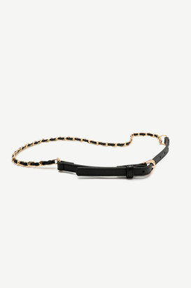Ardene Faux Leather Metal Chain Belt