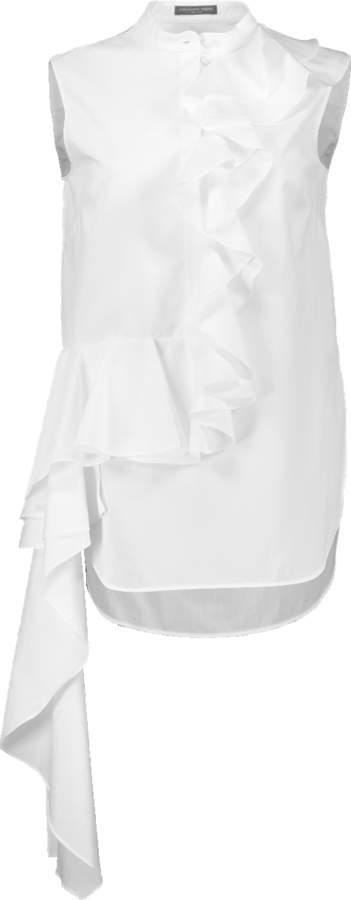 Alexander McQueen Ruffle Drape Shirt