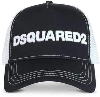 DSQUARED2 Mens Navy And White Cotton & Mesh Baseball Cap