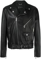 Versace classic biker jacket - men - Cotton/Lamb Skin/Cupro/Viscose - 48
