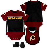NFL Washington Redskins Lil Jersey Size 24M 3-Piece Creeper, Bib, and Bootie Set