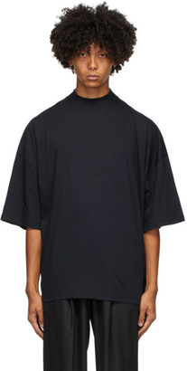 Jil Sander Navy Mock Neck T-Shirt