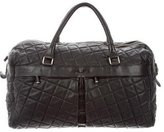 Dolce & Gabbana Quilted Leather Weekender Bag